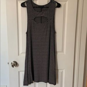 American Eagle black & white striped dress